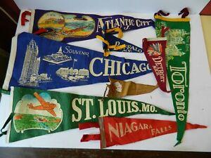 Collection of Vintage American Souvenir Felt Pendants