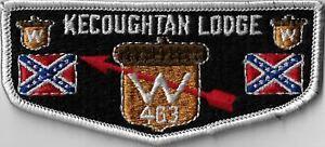 OA Kecoughtan Lodge 463  Flap LGY Bdr. Peninsula, VA [MX-7828]
