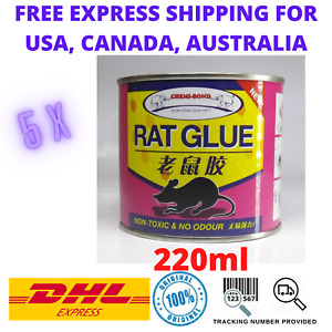 5 x NON TOXIC ODOURLESS RAT GLUE TRAP FOR MOUSE MICE RODENT PEST INSECT STICKY