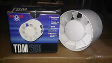 S&P TDM 200 m3/h 125mm inline compact exhaust fan