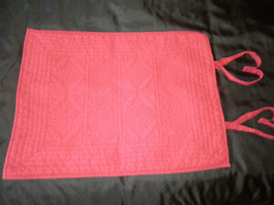 Pottery Barn Hanna STD Pillow Sham Quilted Red Tie Close