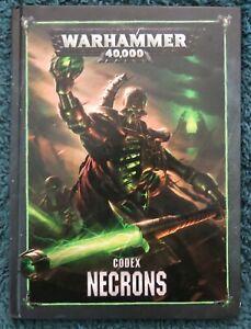 Warhammer 40K Codex Necrons (Games Workshop Hardback 2018)