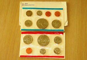 1974 US Uncirculated Mint Set (U6-2) With 2 Eisenhower Dollars, 2 Kennedy halfs