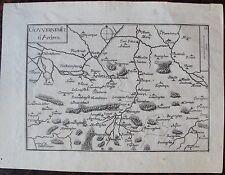 CARTE GOUVERNEMENT D'ARDRES . Par TASSIN. Carte originale de 1633.  Dimensions d