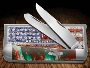 Case xx Trapper Knife Merry Christmas Corelon 6073MC Stainless Pocket Knives