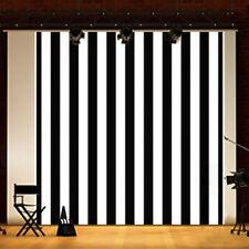 8x8FT Vinyl Black White Stripes Backdrop Photography Background Studio Props