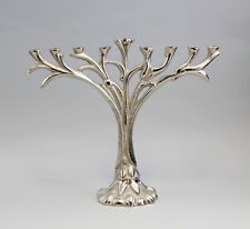 Silberfarbener Leuchter vernickelt floral 9-flammig  neu 9977344