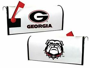 R and R Imports Collegiate Georgia Bulldogs Magnetic Mailbox Cover-White
