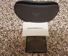 Emporio Armani grey soft glasses/sunglasses case ~ brand new