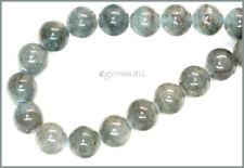 "18 Blue Green Kyanite Round Beads 11mm 7.75"" #70019"