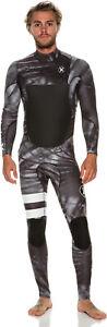 New $310 Men's Hurley Fusion 403 Wetsuit 403 FullSuit 4/3mm Black Size XS Camo