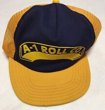Vintage A-1 Roll Co. Trucker Baseball Hat With A Mesh Back, Made In The USA