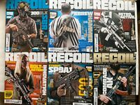LOT OF 6 RECOIL GUN CULTURE Magazine ISSUES 37, 38, 39, 40, 42 & 43
