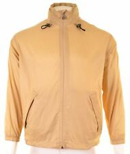 K-WAY Mens Rain Jacket Size 36 Small Yellow Nylon Loose Fit KZ03