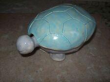 Handmade Carved Stone Ceramic Turtle Trinket Box