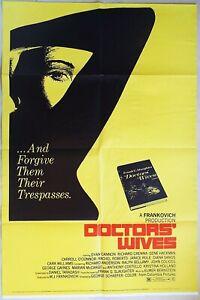 Doctors' Wives 1971  Dyan Cannon, Richard Crenna, Gene Hackman US Poster