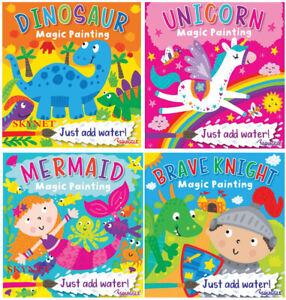 Children's Magic Painting Colouring Book Books Create water Art Unicorn Dinosaur