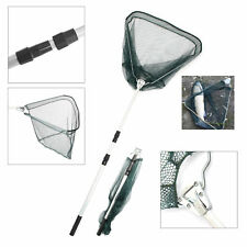 Lightweight Fishing Triangular Mesh Landing Net Telescopic Pole Folding Handle
