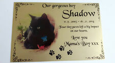 photo pet memorial plaque, rabbit, cat, weatherproof, aluminium, 150mm x 100mm