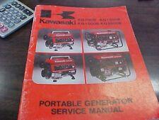 Kawasaki Portable Generator Service Manual KG700B  KG1000B KG1500B KG2600B