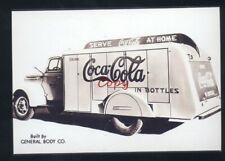 REAL PHOTO COCA COLA BOTTLING COMPANY DELIVERY TRUCK ADVERTISING POSTCARD COPY
