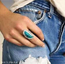 Silpada Turquoise Ripple Sterling Silver Ring Size 6  New R3482 Retail 99.00