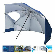 Large Pop Up Beach Sport Umbrella Sun Shield Shade Canopy UV Camping Parasol