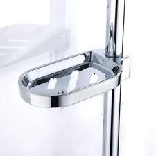 Bathroom Soap Holder Dish Adjustable Shower Rail Slide Soap Plates Smooth Metal