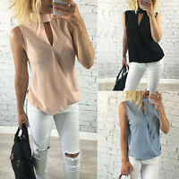 Fashion Women's Ladies Vest Sleeveless Shirt Blouse Summer Casual Loose Tops Tee
