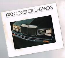 1982 Chrysler LeBARON Brochure / Catalog with Color Chart: Le Baron,Convertible