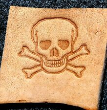 Jolly Roger Skull Leather Embossing / Clicker Stamp, Delrin,pirate New #005