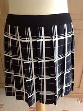 FANTASTIC COOPERATIVE BLACK & WHITE CHECK PLEATED MINI SKIRT UK SIZE M (10) BNWT