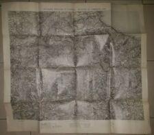 Carta topografica mappa Divisione militare Palermo manovre campagna IGM 1901
