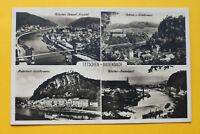 Tschechien CZ AK Tetschen Bodenbach Böhmen 1930 Děčín Schiffe Häuser Ortsansicht