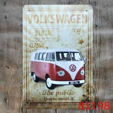 Metal Tin Sign vw camper van Decor Bar Pub Home Vintage Retro Poster