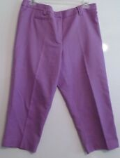 EUC! NUE OPTIONS COTTON STRETCH CROPPED, CAPRI PANTS-SZ 16-PURPLE-NICE!