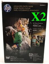X2 New HP Advanced Photo Paper Glossy (4 x 6 Inches) 200 Sheets total