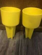 The Spiker Beach Beverage Sand Cup Phone Holder Set Of 2 Yellow