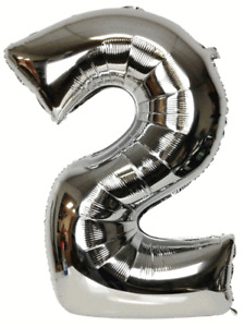 """40"""" Foil Number and 16"""" A-Z Air Self-inflating Balloons Birthday Party Wedding"""
