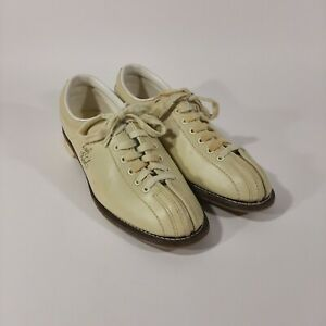 Vintage Brunswick Bowling Shoes Lady Rebel 9.5 with Leather Carry Bag