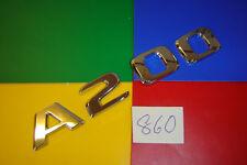 GENUINE MERCEDES BENZ A200 CHROME PLASTIC REAR BADGES EMBLEMS.