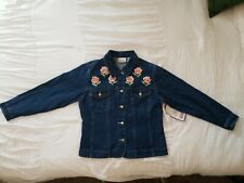 New With Tags Vintage (1999) Bill Blass Women's Embroidered Denim Jacket