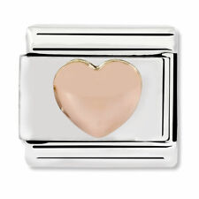 GENUINE Nomination Classic Rose Gold Raised Heart Charm 430104/22 / £18 RRP