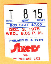 12/3/75 PHILLY 76ERS/NEW ORLEANS JAZZ BASKETBALL TICKET STUB AT SPECTRUM