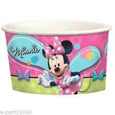 MINNIE MOUSE Bow-Tique ICE CREAM CUPS(8) ~ Birthday Party Supplies Dessert Treat