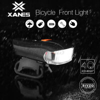 XANES Bike Bicycle Cycling Head Front Rear Lights MTB Lamp USB Rechargeable