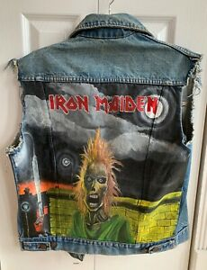 Hand Painted Iron Maiden Denim Jacket