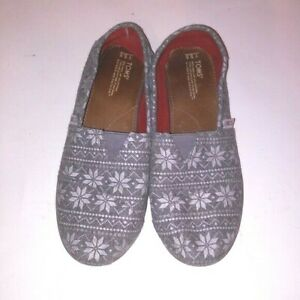 Toms Size 5.5 Youth Gray