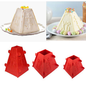 Set 3 Plastic Mold Orthodox Easter Cheese Cake Russian Tvorog Paskha Form