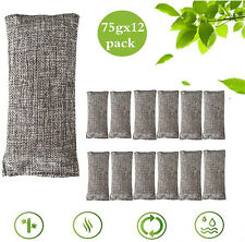 Air Purifying Bag 12 Pack Activated Natural Bamboo Charcoal Odor Absorber Breath